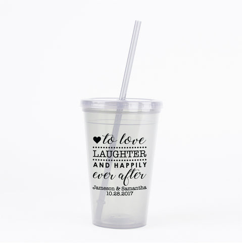 Wedding double walled tumblers for guests