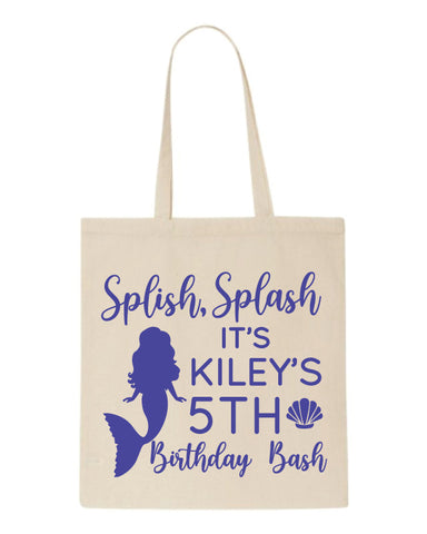 Personalized mermaid birthday party favors, mermaid party gift bags