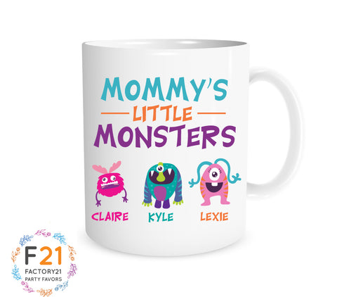 """Mommy's little monsters"" funny mom mug"