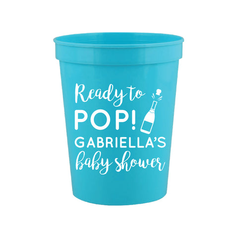 Ready to pop baby shower cups