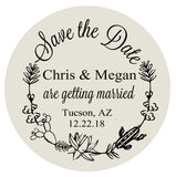 Save the date magnets, floral cactus themed save the dates, heavy paper magnets