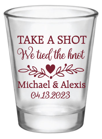 Take a shot we tied the knot- Design #6