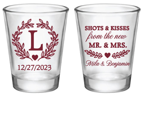 Shots and kisses from the new Mr. & Mrs.- Monogram