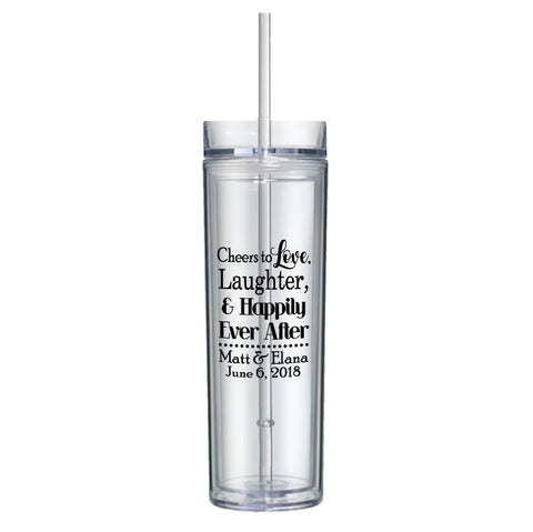 16oz skinny acrylic tumblers, personalized wedding tumblers, wedding favors