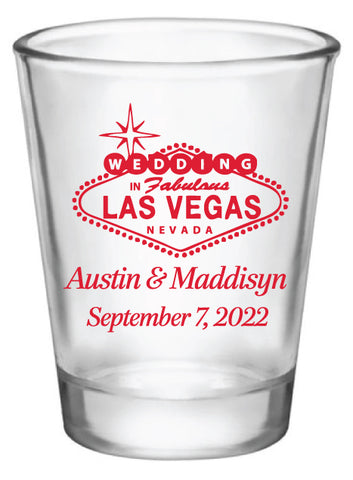 Welcome to Las Vegas wedding shot glasses