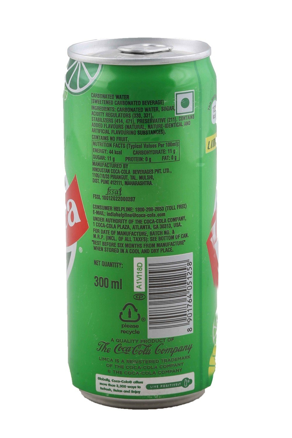 Limca Lemon Flavor Tin