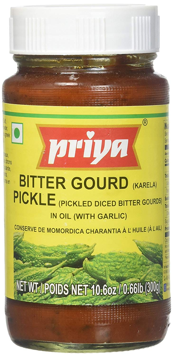 Bitter Gourd Pickle (Karela Pickle) in Oil w/ Garlic