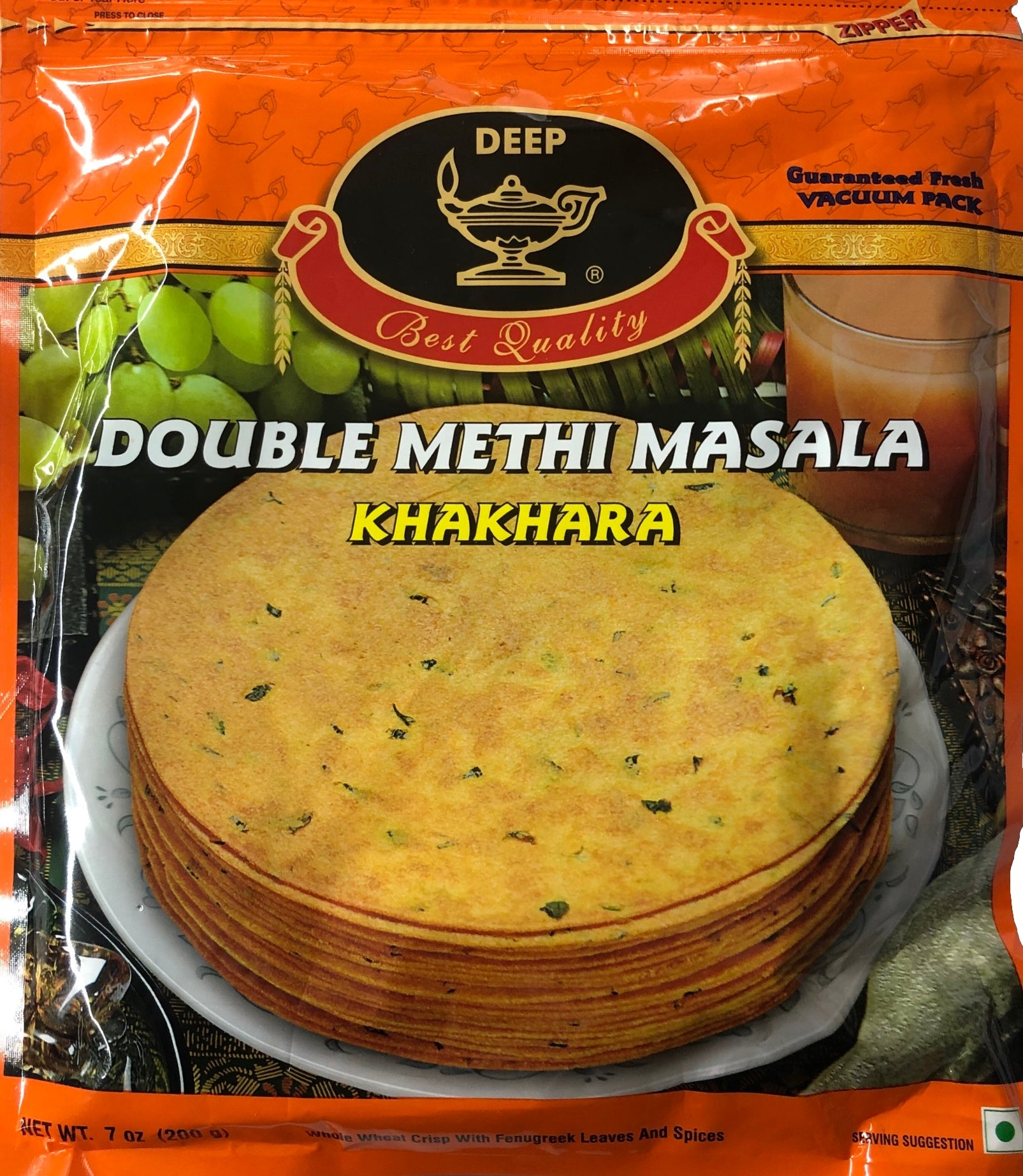 Double Methi Masala Khakhra