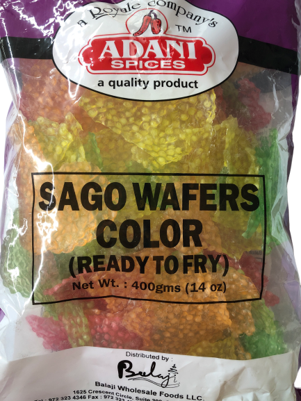 Sago Wafers Color (Ready to Fry)