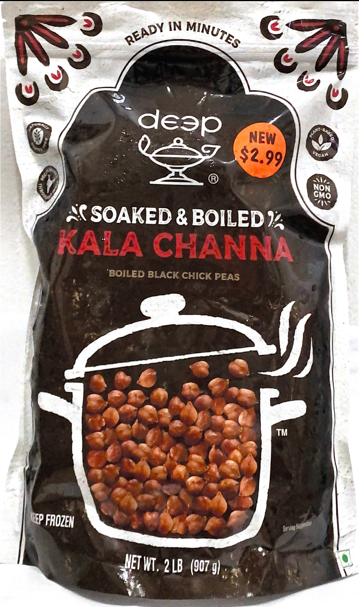 Boiled Black Chick Peas (Boiled Kala Chana)