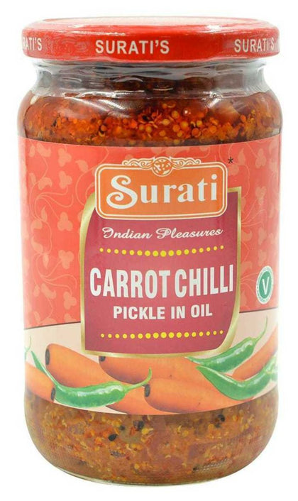 Carrot Chilli Pickle in Oil