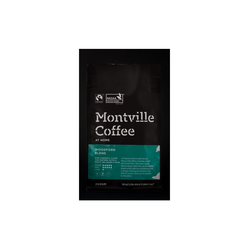 Montville Coffee Woodford Blend - 250g (Organic)
