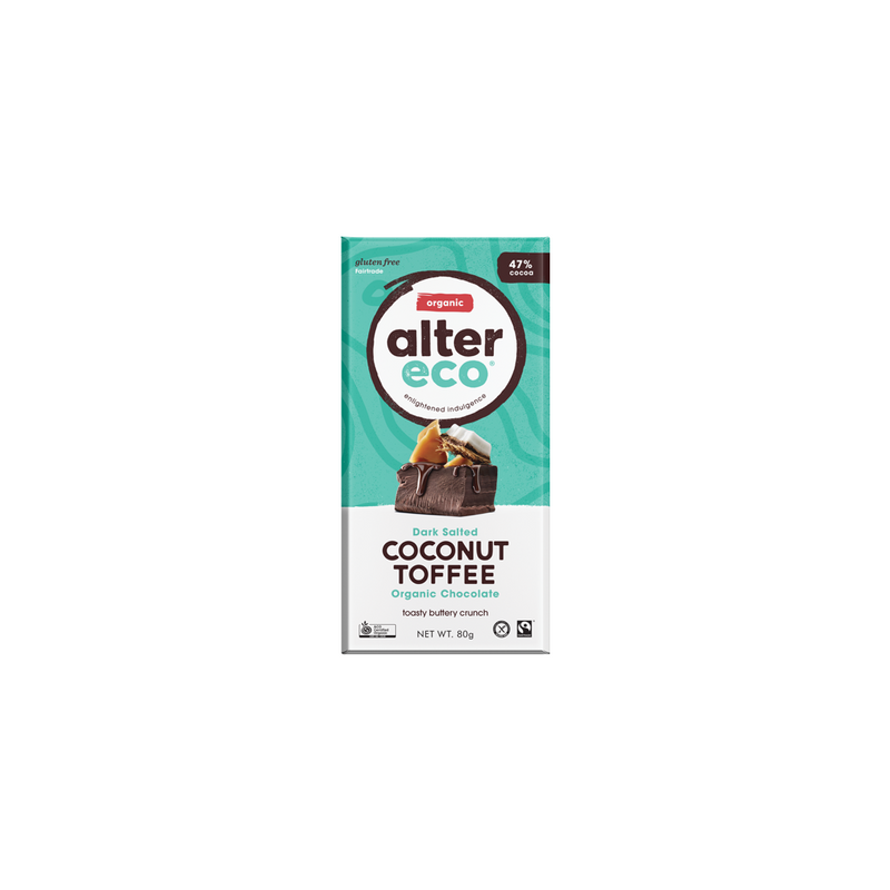 Alter Organic Eco Dark Salted Coconut Toffee (60% Cocoa)