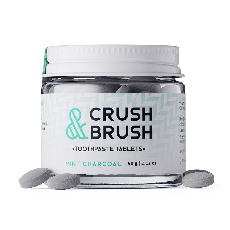 Crush & Brush Toothpaste Tablets (Charcoal Mint)