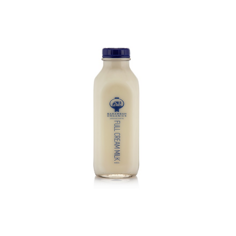 Organic Milk, Barambah - GLASS Bottle 946ml
