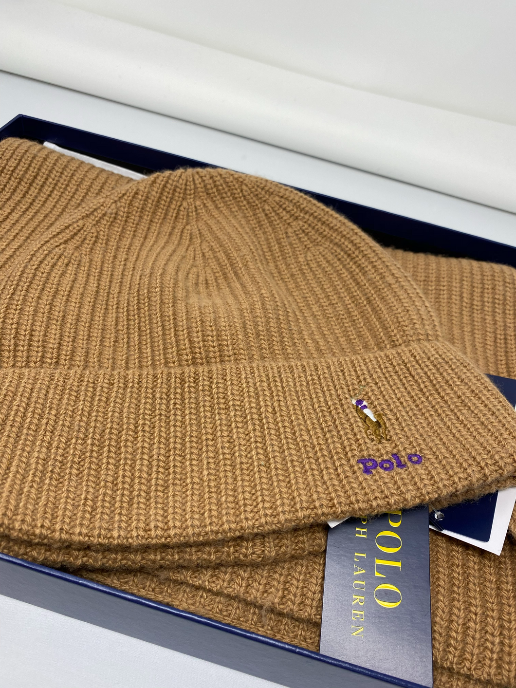 Ralph Lauren Polo - Hat & Scarf Set - Brand New