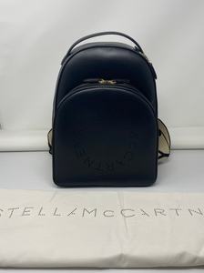 Stella McCartney Black Logo Backpack - Brand New