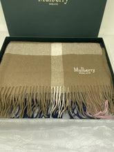 Load image into Gallery viewer, Mulberry Large Check Scarf - Sorbet Pink Lambswool