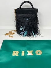 Load image into Gallery viewer, RIXO - Mabel feather-embellished satin tote - Brand New