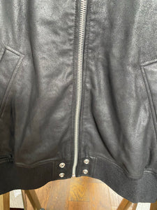 Diesel L-Nikolai Bomber Jacket in Waxed Suede - Brand New