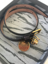 Load image into Gallery viewer, Alexander McQueen Double Wrap Bracelet with Skull - Preloved