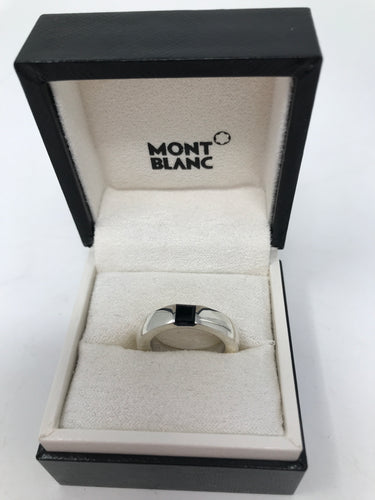 Mont Blanc Boheme Onyx and Crystal Ring (Preloved)