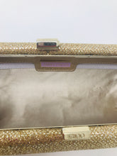 Load image into Gallery viewer, Jimmy Choo Gold Glitter Clutch