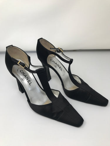 Chanel Black High Heel Shoes (Preloved)