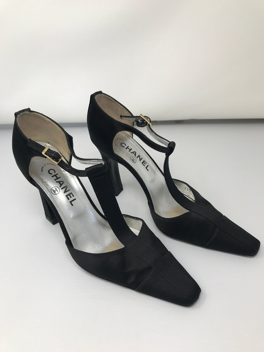 Chanel Black High Heel Shoes