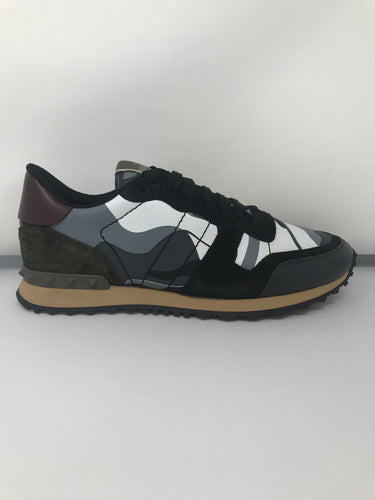 Valentino Camouflage Leather & Suede Rockrunner Trainers (Brand new)