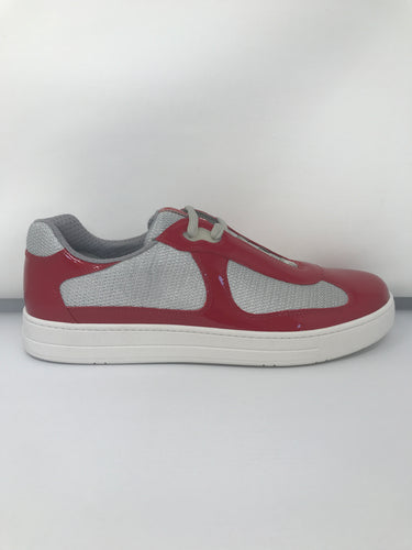 Prada Technical Fabric Red & Grey Trainers - Brand new