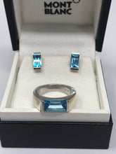 Load image into Gallery viewer, Mont Blanc Silver Topaz Ring (Preloved)