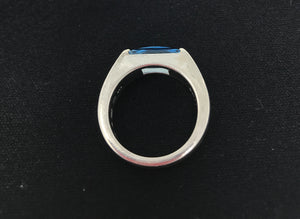 Mont Blanc Silver Topaz Ring (Preloved)