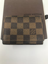 Load image into Gallery viewer, Louis Vuitton Damier Ebene Canvas Card Holder