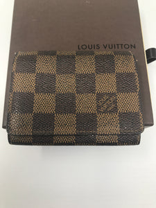Louis Vuitton Damier Ebene Canvas Card Holder