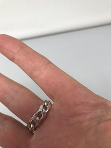 Gucci Curb Chain 925 Silver Ring