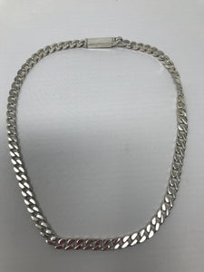 Gucci Curb Chain 925 Silver Necklace - Preloved