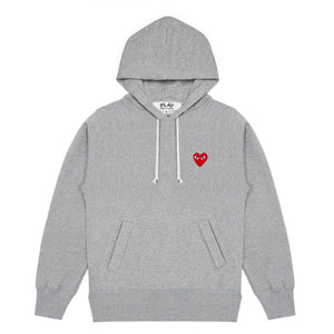 Comme des Garcons Play Pullover Hoodie - Grey