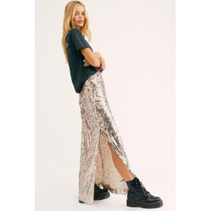 Free People Sea Shell Sequin Maxi Skirt - Brand New
