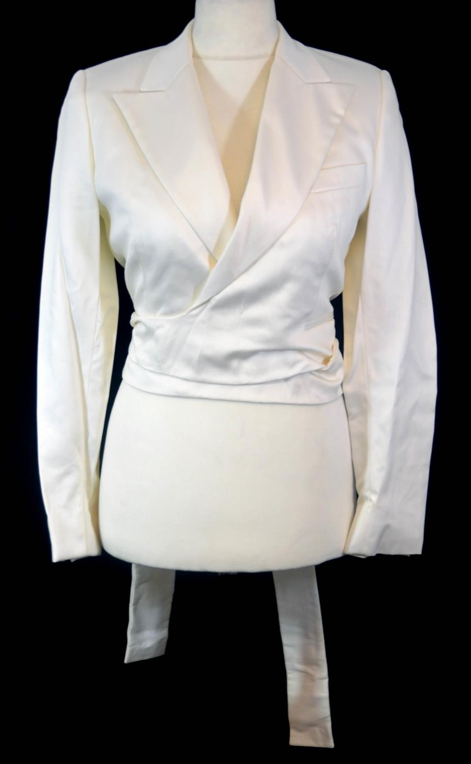 Gucci Ivory Silk Blazer - Preloved