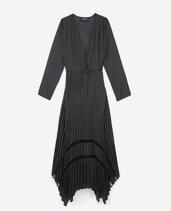 The Kooples Tete d'Epingle Polka Dot Maxi Dress - Brand New