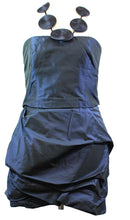 Load image into Gallery viewer, Max Mara Silk Deep Blue Mini Dress (Preloved)