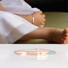Load image into Gallery viewer, (FREE) Custom Baby Name 16k Gift Bracelet (FREE) (Only 13 left)
