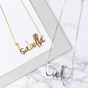 Personalized Script Style Name Necklace