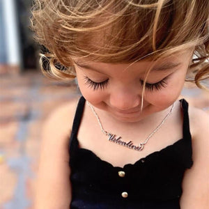 Custom Personalized Baby Name 16k Gift Necklace