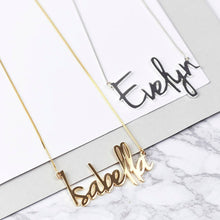 Load image into Gallery viewer, Personalized Script Style Name Necklace