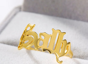 Personalized Jewelry Custom Name Rings
