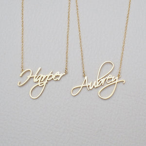 Free Cursive Custom Mothers Day Necklaces