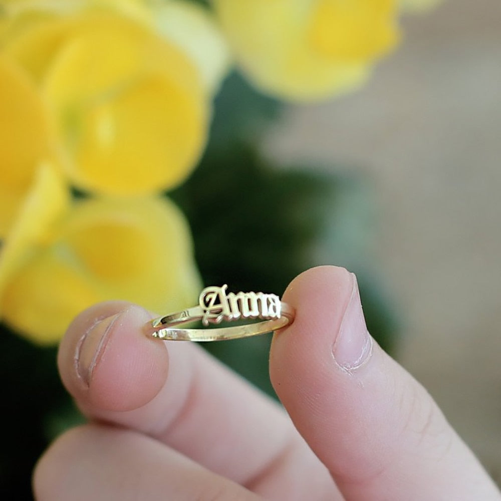 Custom Name Ring (Personalized Jewelry)