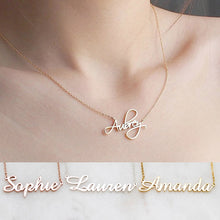 Load image into Gallery viewer, Free Cursive Custom Mothers Day Necklaces